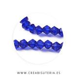 Abalorio cristal negro bicono facetado 4mm azul Marino ( tira de 70 abalorios aprox)