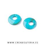 Colgante Resina  Aro flamenca resina  pequeño 24,5cm AROFP  (2 unidades)