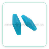 Abalorio acrílico azul bicono facetado (20 unidades) B3915