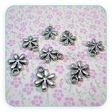 Charm Flor plata vieja mini (10 unidades) CHAOOO-C03799b
