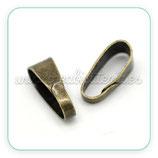 Util - Clip bronce viejo liso grande ACCOTR-C16427 - 40 piezas