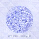 Abalorios -  Cristal de colores rocalla  azul claro aperlado  45gr 143