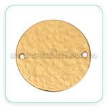 Dorado Mate - medalla  conectora 32mm   (1 unidad)