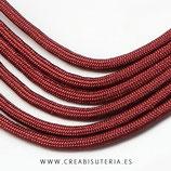 CESCALADA033 - Cordón de Nylon de Escalada  4mm  Modelo granate / Teja  (3 Metros)