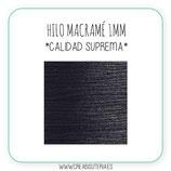 Cordón macramé 1mm  Calidad Suprema  Color Negro  (5 metros)