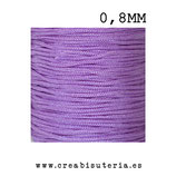 Cordón macramé Gama Deluxe 0,8mm  Color Lila claro/ lavanda  (5 metros)