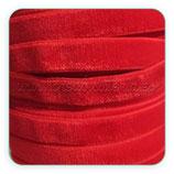 Cinta terciopelo elástico 9mm color rojo