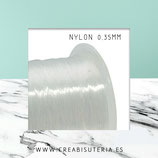Hilo NYLON 0,35mm para  enfilado HILON0.35mm  Carrete 100m
