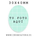Cabuchón Cristal PERSONALIZADO - adjuntar foto por email previa consulta con la tienda - Tamaño