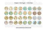 Lámina 32 imágenes mapas vintage 18x18mm