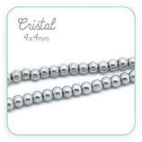 Abalorio cristal gris aperlado 4mm (1 tira de 210 unidades aprox.) ABAL-Cristal C18754
