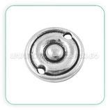 CONECTOR/A/034- chapita dos circulos plata vieja pequeña 13mm  CON-P9344Y (10 unidades)