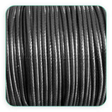 Cordón plastificado color negro 2mm (4 metros)