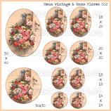 Imagen nena vintage y ramo de flores 002