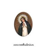Cabuchón Cristal Religión - Virgen de la Paloma