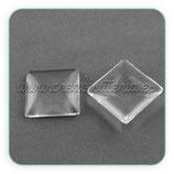 Cabuchón cuadrado de 25mm cristal  (10unidades)