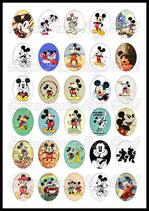 30 imágenes de Michey Mouse 30x40mm