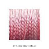 Cordón Nylon trenzado 1,5-2mm - 4 metros -  color gris rosa