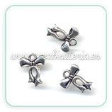 Charm lazo mini plata vieja CHAOOO-R12735 (10 unidades)
