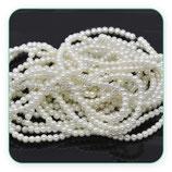 Abalorio cristal perla sintética (210 un. aproximadamente)4x4mm C12579