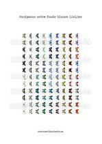 Imágenes vintage de mariposas FONDO BLANCO (108 cabuchones) 12mm