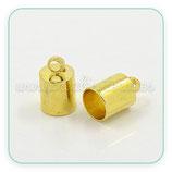 Terminal  dorado tubo  interior 5,5mm  1par ACCTER-PEC041(2 piezas)