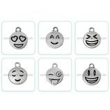 Charms emoticonos  6 unidades (uno de cada) CHAOOO-C60430