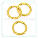 Aro dorado 02 - mediano plano dorado  15mm UNIDAD c09336 (10 unidades)