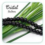 Abalorio cristal negro perla 6mm (1 tira de 145 unidades aprox.) ABAL-Cristal C08878