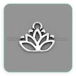 Charm Espiritual 1 -  008 -  Flor de loto plateado hueco (10 unidades) CHAOOO-C23371-