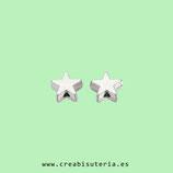 Abalorio de plástico de alta calidad estrella plateada  -