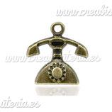 Charm teléfono vintage CHAOOO-C13329 (10 unidades)