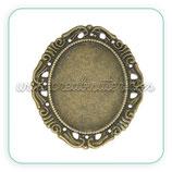 Camafeo oval ornamental bronce antiguo fino CAMBAS-C14205 (10 unidades)