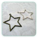 COLGANTE ESTRELLA/ 001 - 004 - Estrella hueca grande textura COLOOO-P0437 - 5 unidades