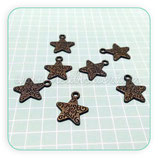 Charm MENSAJITO JUST FOR YOU estrella mini bronce viejo C17676 (15unidades)