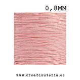 Cordón macramé Gama Deluxe 0,8mm  Color rosa claro  (5 metros)