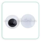 Adorno ojos de colores para pegar 10mm (20 unidades) AD-C32540