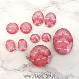 Lote liquidación -  Motivo étnico, rosa y gris (10 piezas)