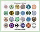 24 Imágenes de mandalas I 25x25mm