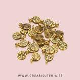 Charm Espiritual  espirales 015- espiral mini dorada *20 unidades  E015
