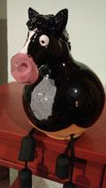 Kugelpferd, schwarz