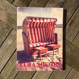 Wandbild - Strandkorb Rot