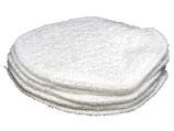 Badstof beauty pads inhoud 5 stuks kleur wit