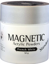 Magnetic acrylic powder white inhoud 50gr