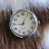 Horloge XL chunk wit