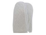 1 Paar witte gewatteerde paraffine handschoenen