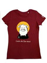 """Damen T-Shirt mit Schweinemotiv """"Lasst die Sau raus!"""""""