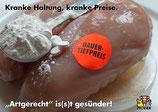 "Postkarte ""Kranke Haltung, kranke Preise"""