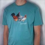 """Herren T-Shirt mit Hühnermotiv """"Vielfalt bewahren"""""""