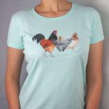 """Damen T-Shirt mit Hühnermotiv """"Vielfalt bewahren"""""""